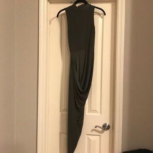 Club L Asymmetrical Slinky Dress